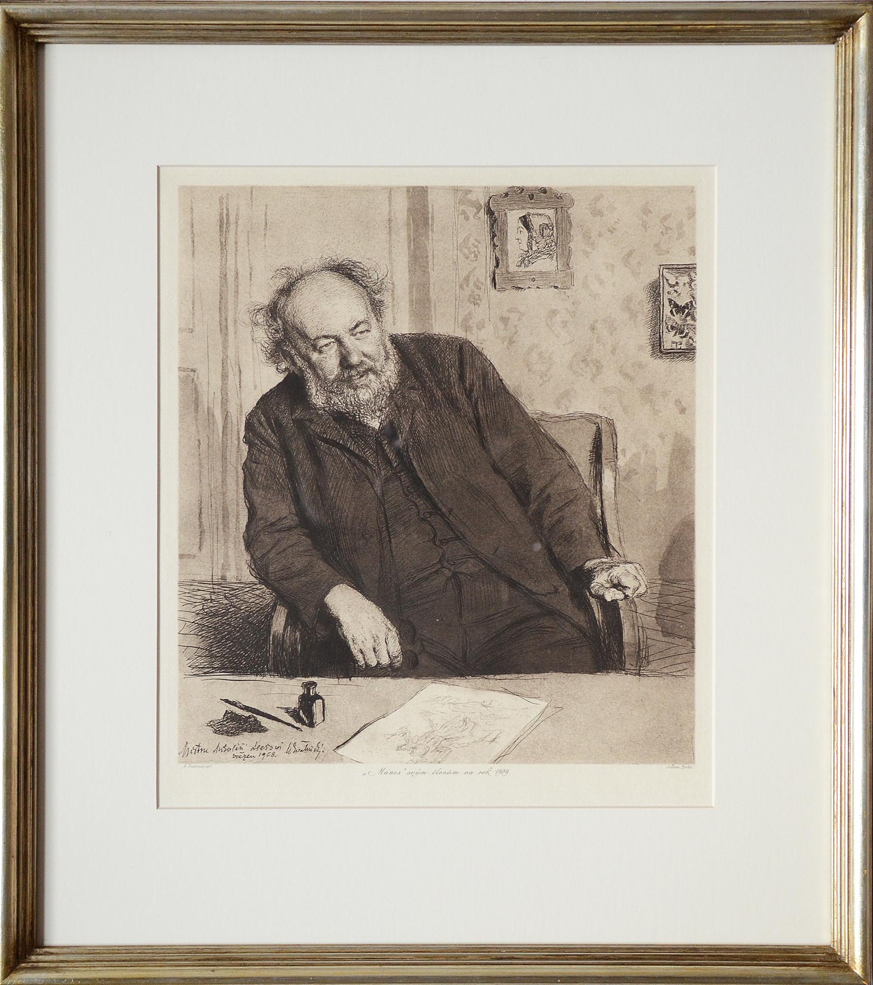 1908 Mikolas Ales Max Svabinsky Invest In Art